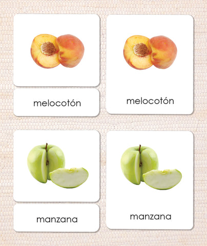 Spanish Fruit 3-Part Reading - Maitri Learning
