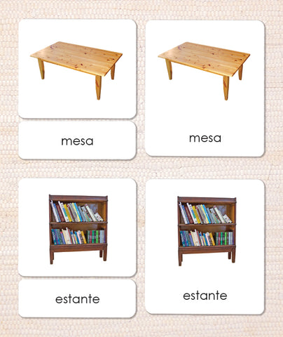 Spanish Around the House 3-Part Reading - Maitri Learning