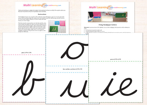 Sandpaper Letters PDF Download - Maitri Learning