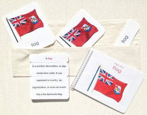 """Parts of"" the Flag Book & Card Set - Maitri Learning"