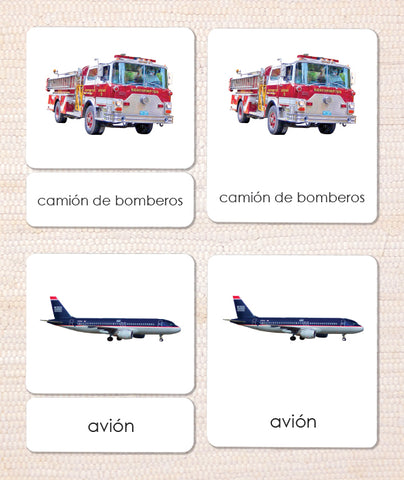 Spanish Transportation 3-Part Reading - Maitri Learning