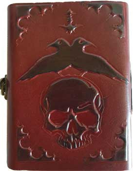 "5"" x 6 1/2"" Skull leather w/ latch"