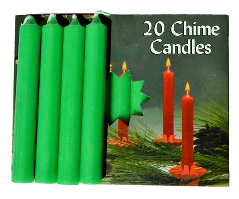 "1/2"" Emerald Green Chime candle 20 pack"