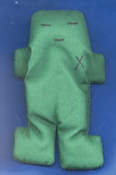Green Voodoo Doll 5""