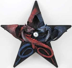 Dragons Pentagram Wall Hanging 12""