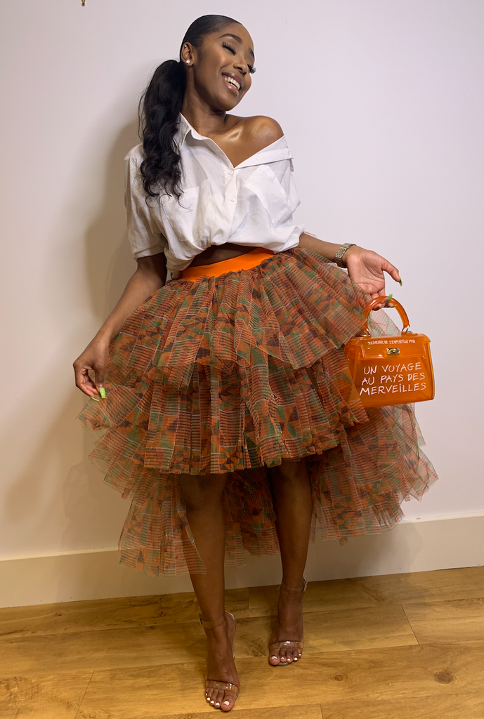 Daolondon African Kente Skirt Dinner Look