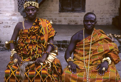 Ghanaian kings wearing Kente clothings
