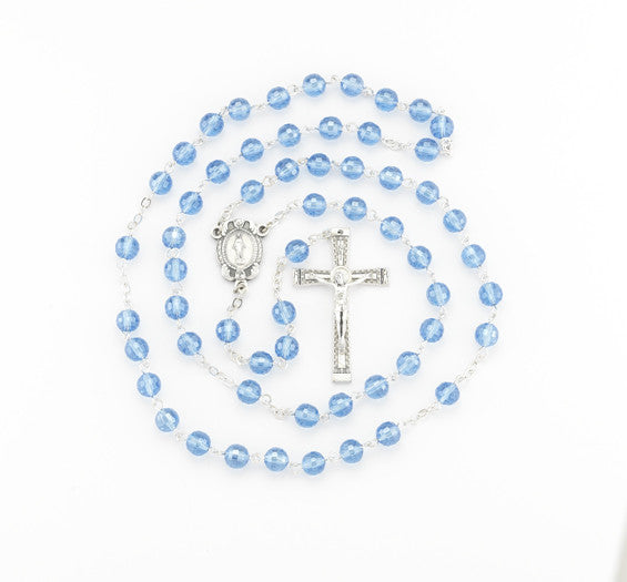 8MM SAPPHIRE ROSARY