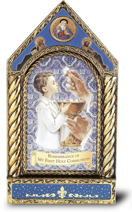 COMMUNION BOY EMBOSSED SHRINE