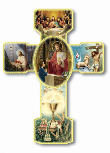 BOYS COMMUNION CROSS 6""