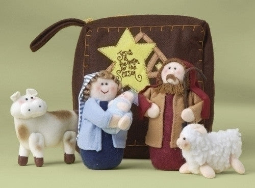 FABRIC NATIVITY W/ZIPPER POUCH