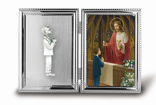 BOY STANDING PICTURE FRAME