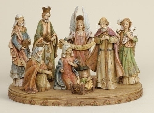 NATIVITY W/ OVAL BASE