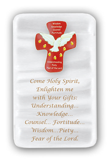 CONFIRMATION PEARLIZED PLAQUE