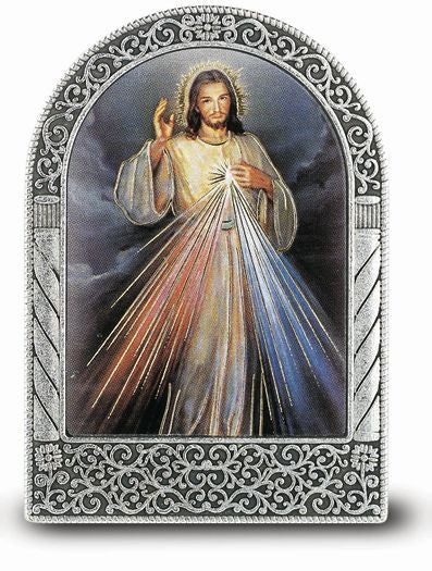 DIVINE MERCY ARCHED PLAQUE SM