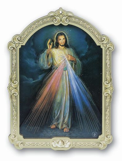 DIVINE MERCY 3 LAYER WD PLAQUE
