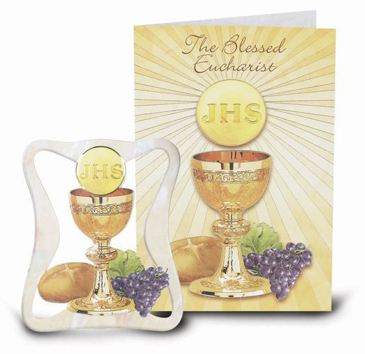 "4"" PEARLIZED COMMUNION PLAQUE"