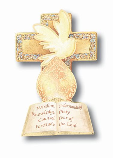 DOVE/MITER/7GIFTS SMALL PLAQUE