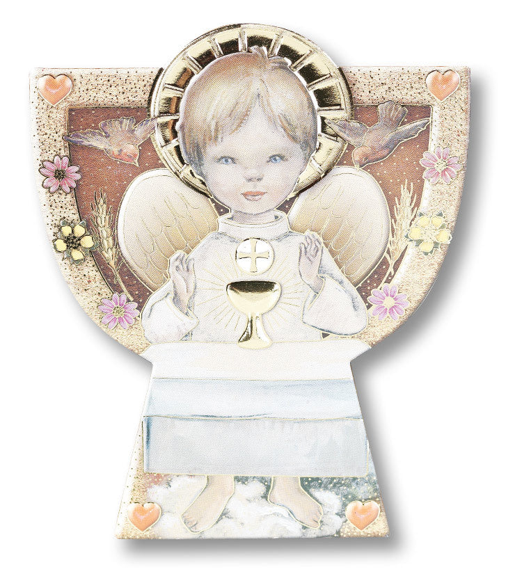 CHILD WITH CHALICE GOLD EMBOSS