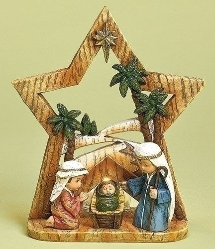 NATIVITY PAGEANT W/ GLASS