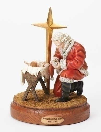 BOWING SANTA FIGURE W/STAR