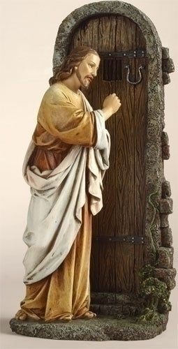 "JESUS KNOCK AT DOOR/11"" RESIN"