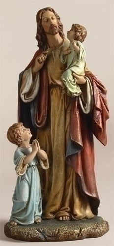 "JESUS WITH CHILDREN 10"" RESIN"