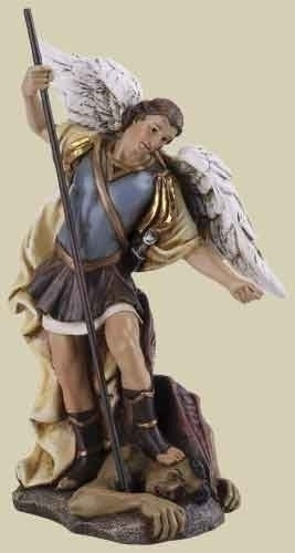 "ST MICHAEL STATUE 4.75"" COLOR"