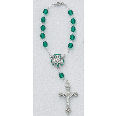 7MM IRISH AUTO ROSARY/CARDED