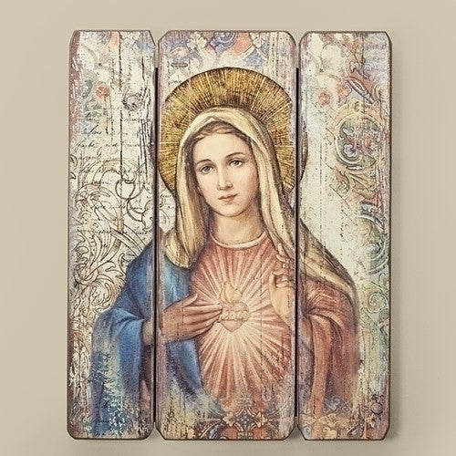 IMMACULATE HEART PLAQUE PLANK