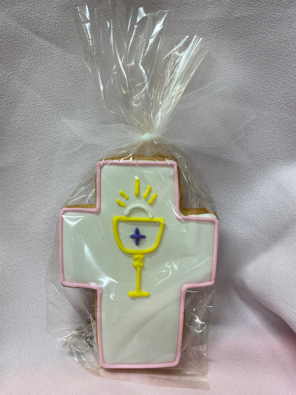 COMMUNION CROSS COOKIE PINK