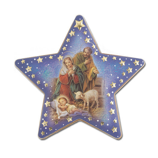 NATIVITY STAR PLAQUE