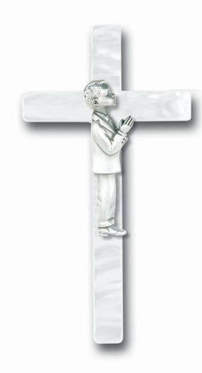 PEARLIZED COMMUNION BOY CROSS