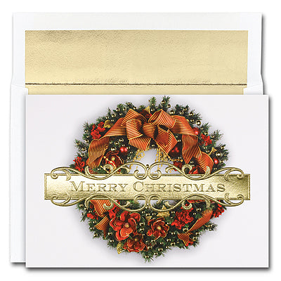 18CT BOXED CHRISTMAS WREATH