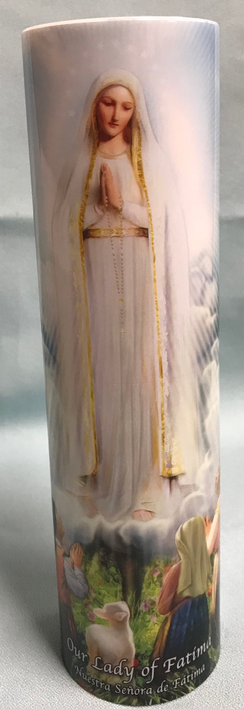 LED OUR LADY OF FATIMA CANDLE