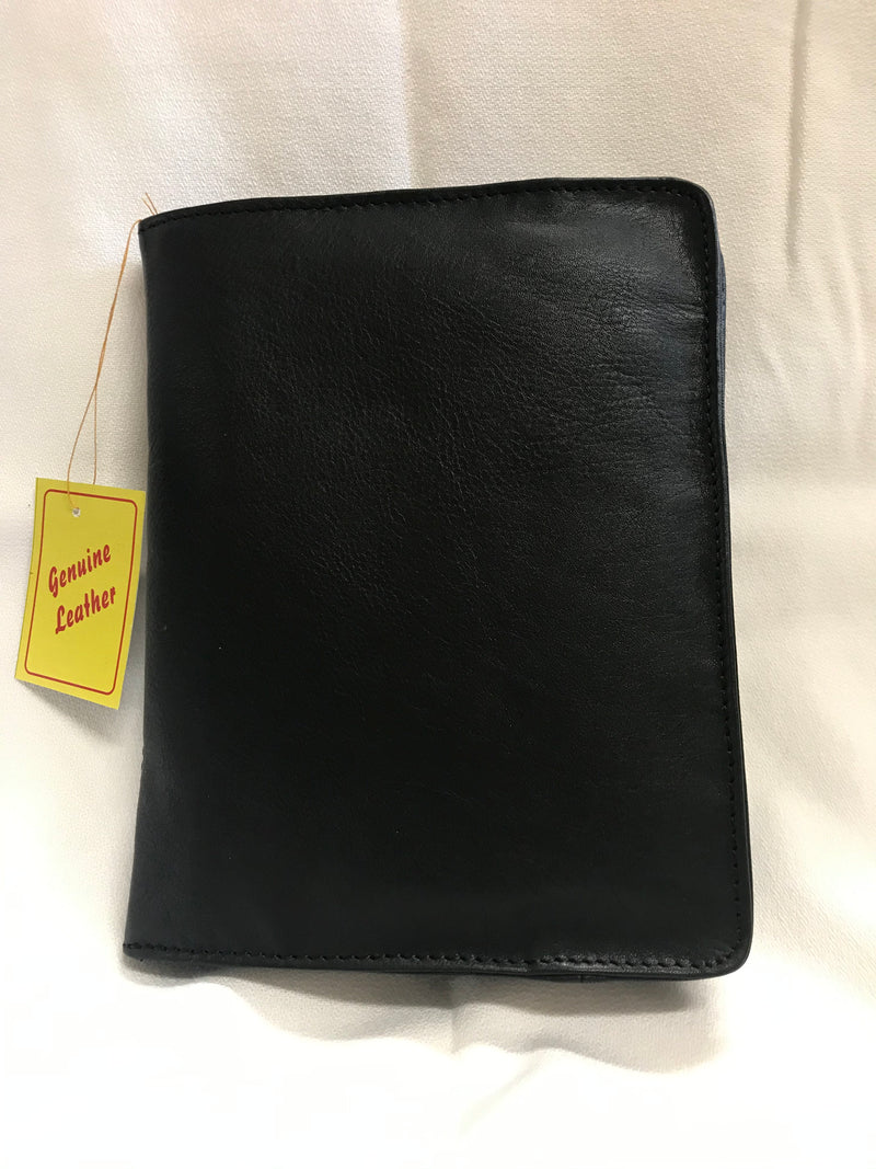 BOOK COVER ZIPPER BLACK