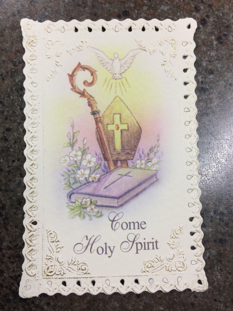 CONFIRMATION LACE HOLY CARD