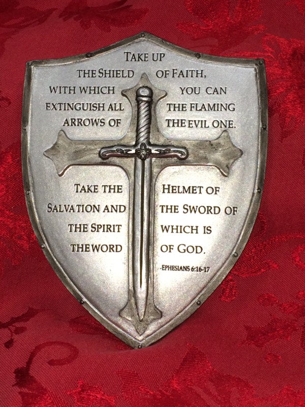 ARMOR OF GOD WALL PLAQUE 6.5""