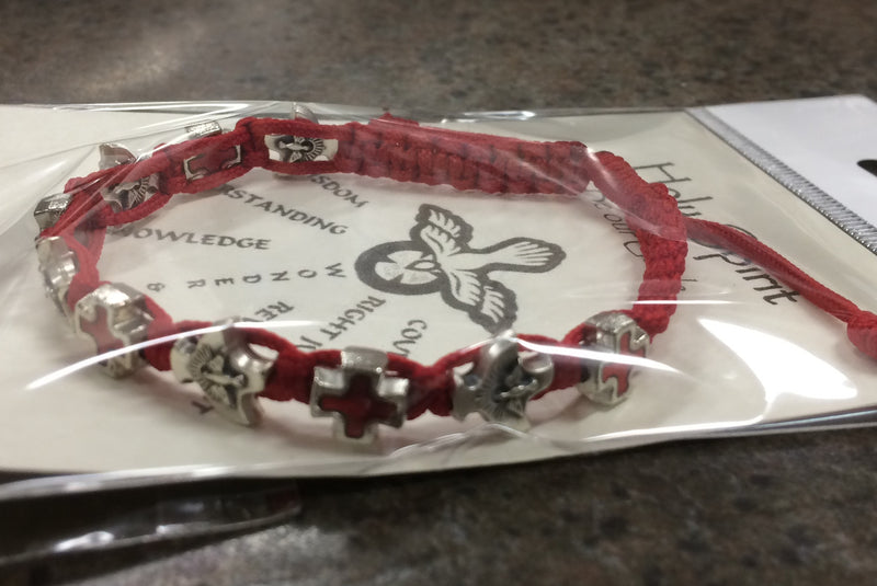 CONFIRMATION CORD BRACELET RED