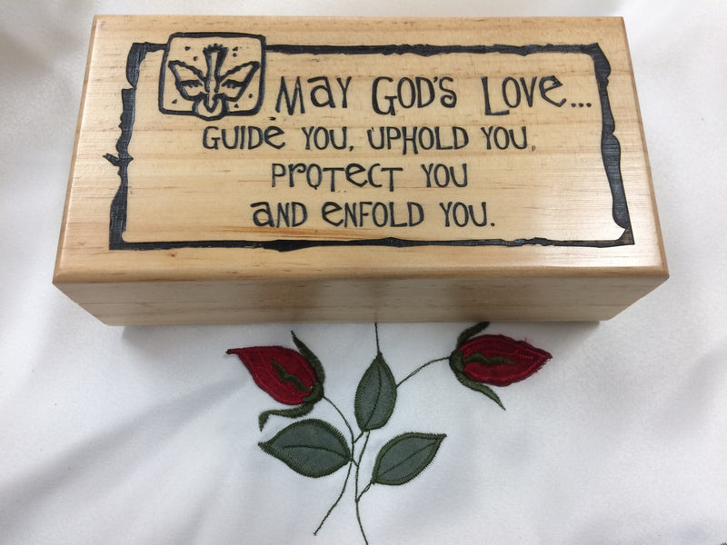 CONFIRMATION WOOD KEEPSAKE BOX