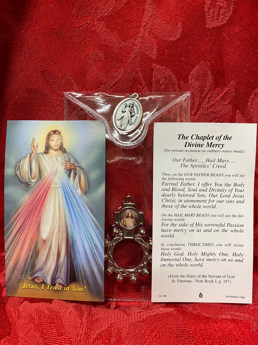 DIVINE MERCY ROSARY RING/ CARD