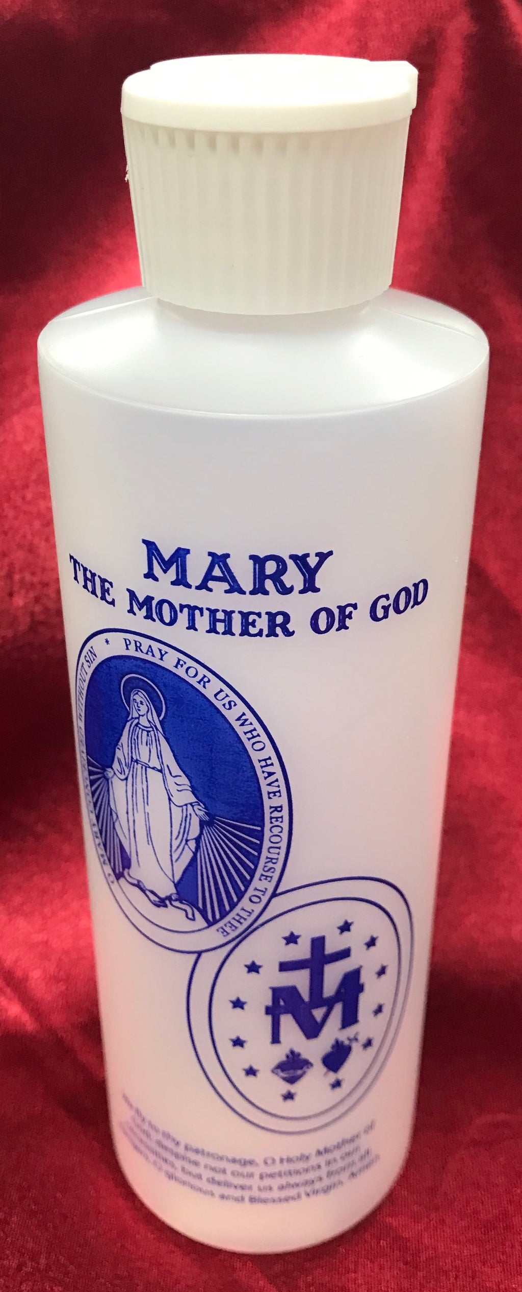 MARY HOLY WATER BOTTLE 8 OZ