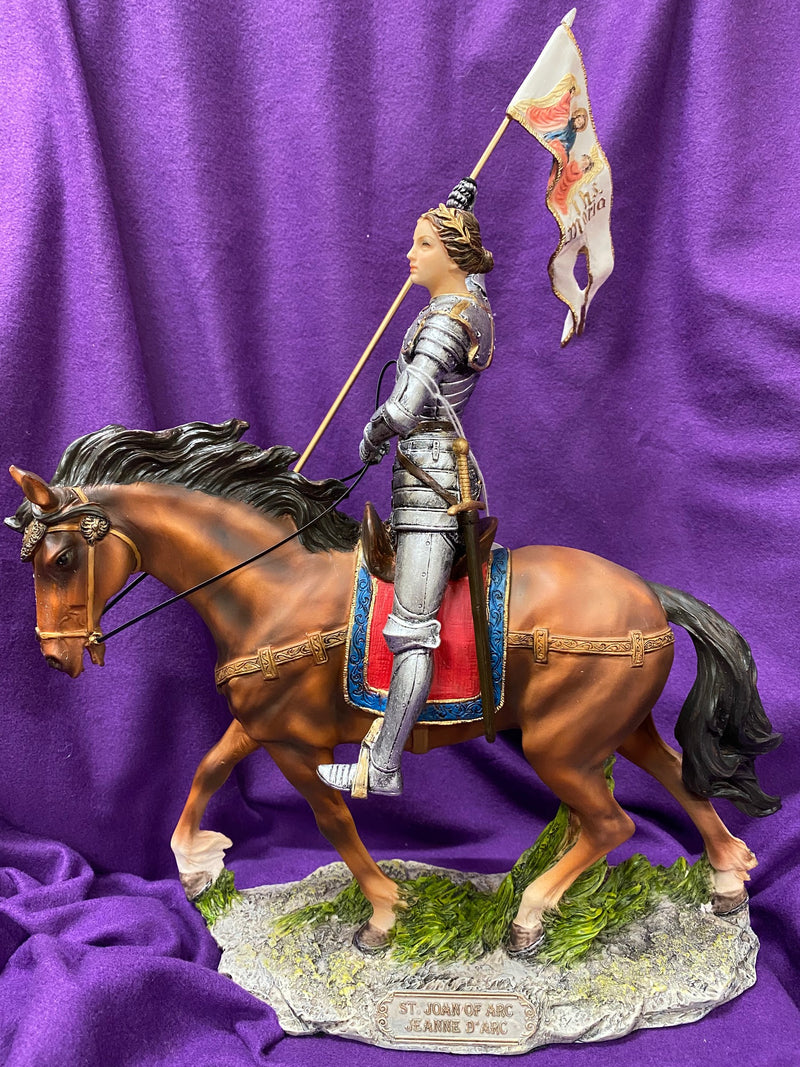 ST JOAN OF ARC ON HORSE STATUE