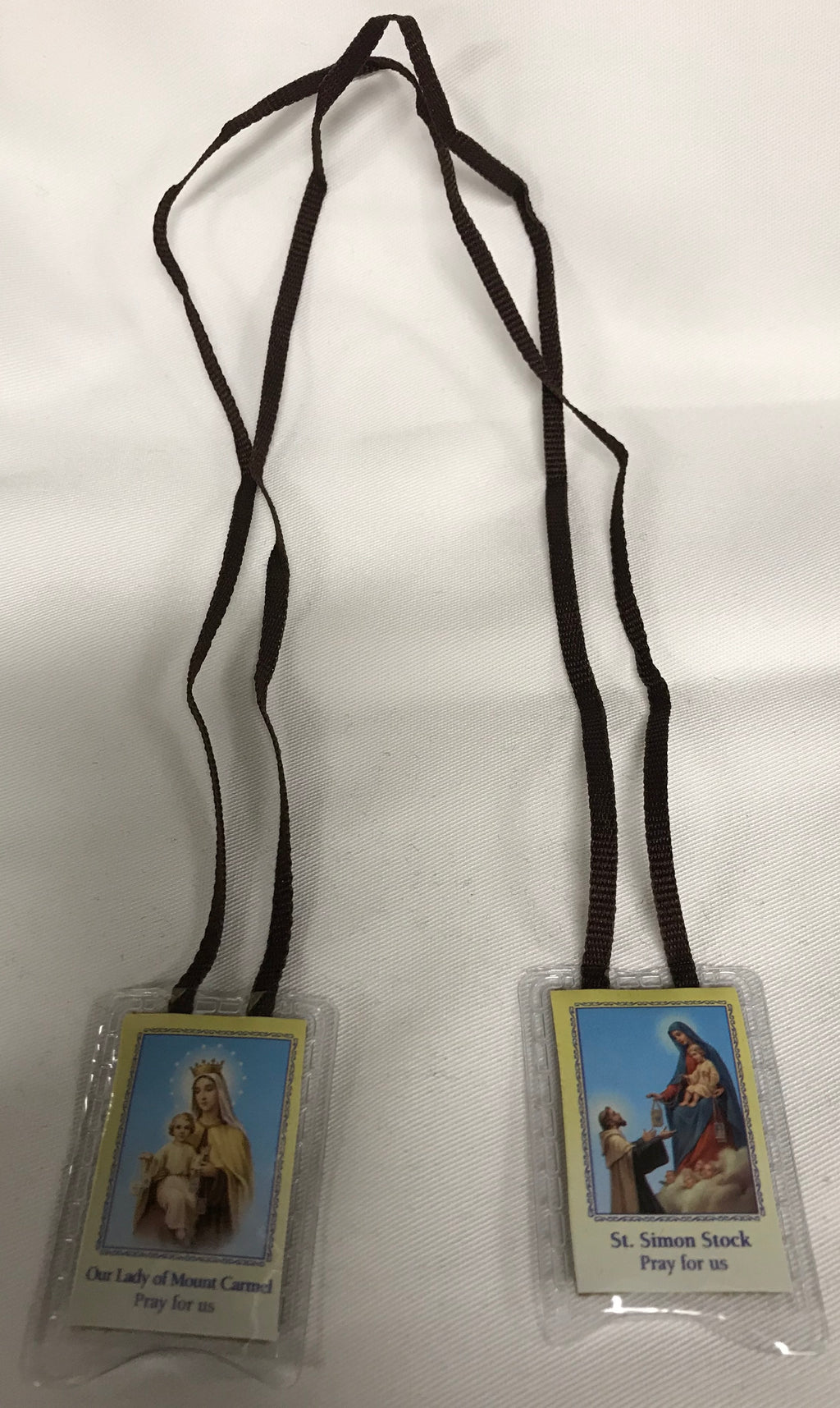 BROWN CORD LAMINATED SCAPULAR