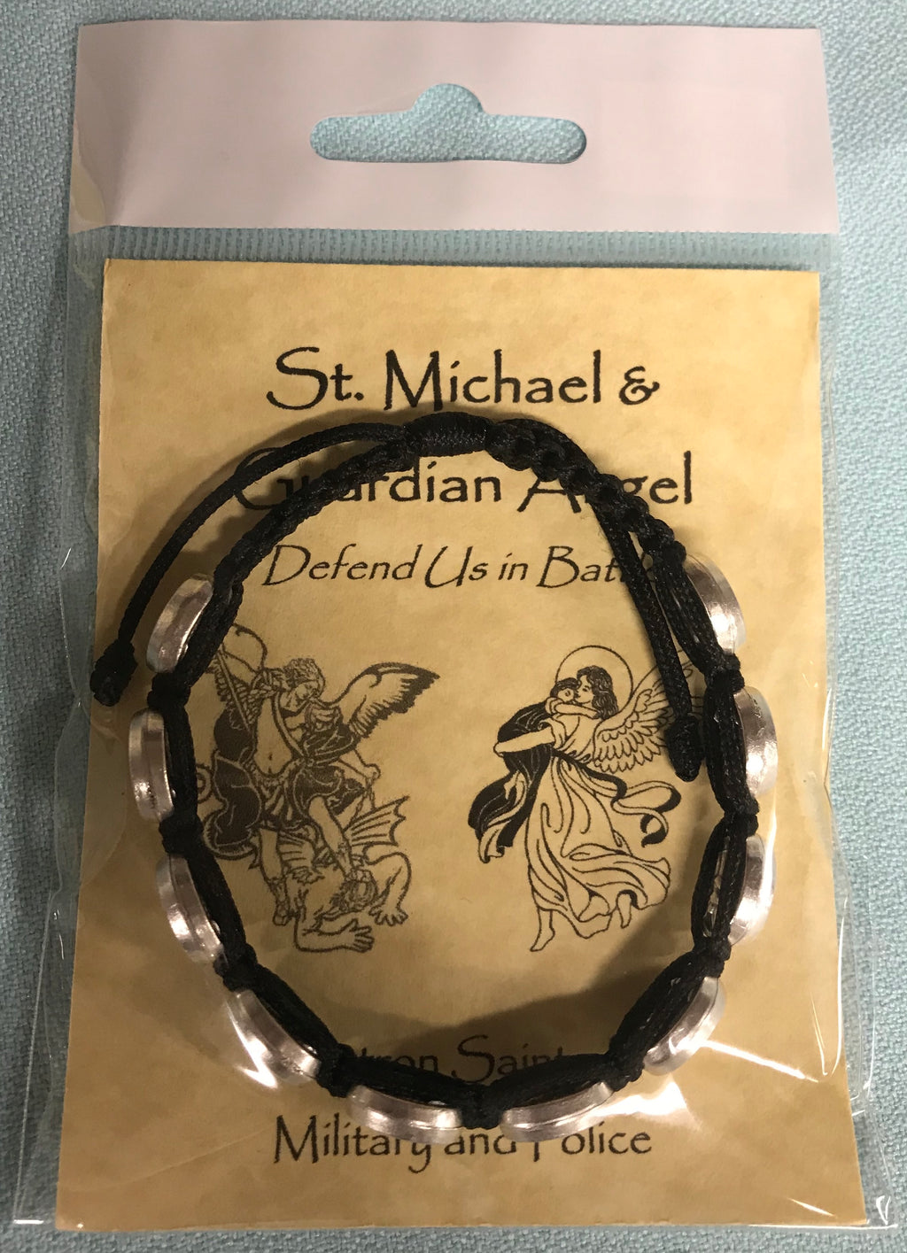 ST MICHAEL BRACELET BLACK