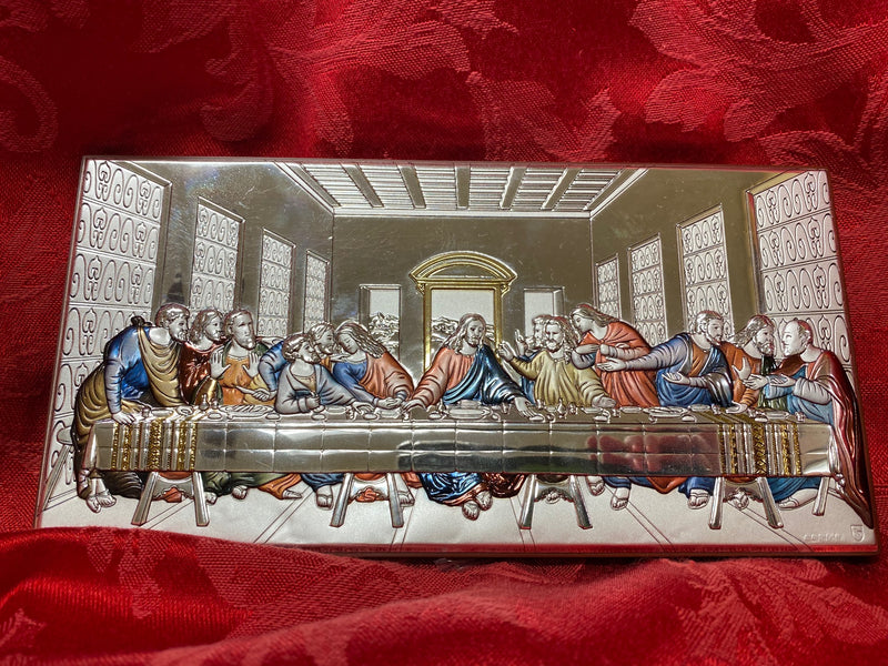 LAST SUPPER PLAQUE COLOR 8X4""