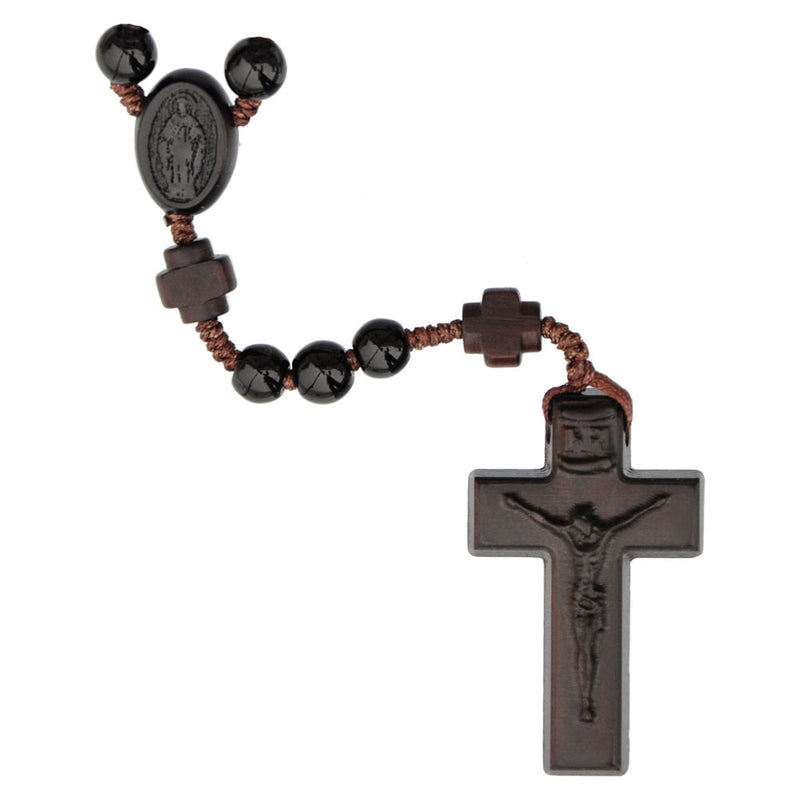 6MM BLACK ONYX GEM ROSARY