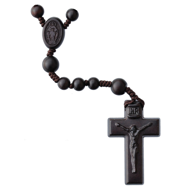 6MM DARK WOOD JUJUBE ROSARY