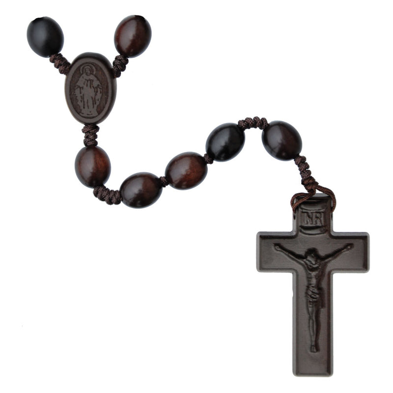12MM OVAL WOOD JUJUBE ROSARY