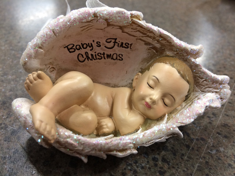 BABY IN WINGS ORNAMENT 2.25""